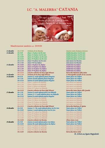 Locandina manifestazioni natalizie 2019 - RETTIFICATA