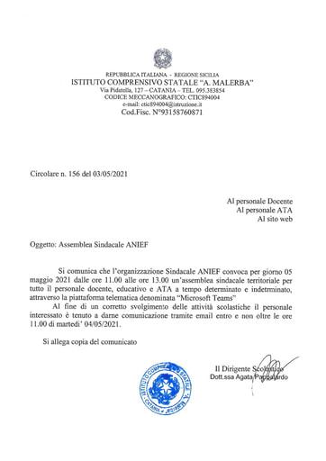 Assemblea Sindacaledel 05 maggio 2021