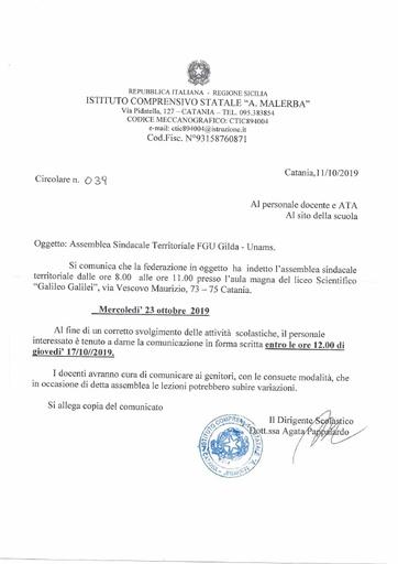 039 Assemblea Sindacale Territoriale FGU Gilda - Unams